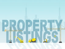 Property Listings Means For Sale And House. Property Listings Representing For Sale And Housing Stock Photo