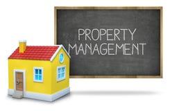 Property management on blackboard Stock Photography