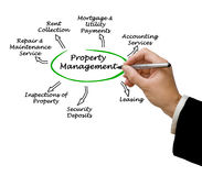 Property Management. Presenting diagram of Property Management Royalty Free Stock Photography