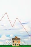 Property Market Crash Royalty Free Stock Photos