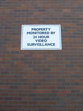 Property monitored sign Stock Photography