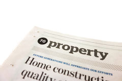 Property news article. Paper print Stock Photo