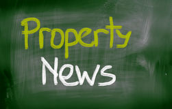 Property News Concept Stock Photography