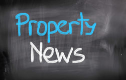 Property News Concept Stock Image