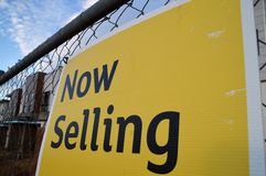 Property now selling Royalty Free Stock Image