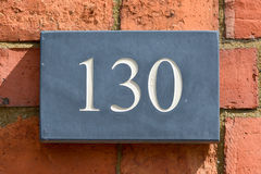 Property number 130 sign Royalty Free Stock Images