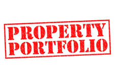 PROPERTY PORTFOLIO. Red Rubber Stamp over a white background Stock Images