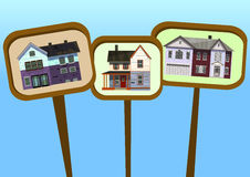 Property posters house Royalty Free Stock Photos