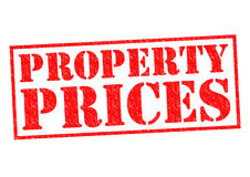 PROPERTY PRICES. Red Rubber Stamp over a white background Royalty Free Stock Photography