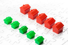 Property & real estate market game Royalty Free Stock Photo