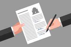 Property release signing Royalty Free Stock Photos