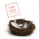 Property for Sale. A conceptual piece of property has gone on the market Royalty Free Stock Photos