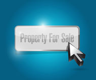 Property for sale button illustration Stock Photo