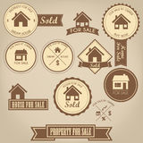 Property For Sale Design Set Royalty Free Stock Photo