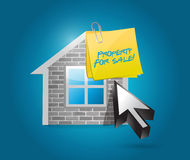 Property for sale illustration design Royalty Free Stock Image