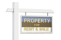 Property for sale and rent in Estonia concept. Real Estate Sign, Stock Photography