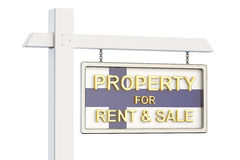 Property for sale and rent in Finland concept. Real Estate Sign, Stock Photography