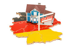 Property for sale and rent in Germany concept, 3D rendering Royalty Free Stock Photography