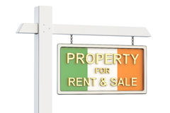 Property for sale and rent in Ireland concept. Real Estate Sign, Stock Photography
