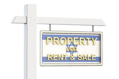 Property for sale and rent in Israel concept. Real Estate Sign,. Property for sale and rent in Israel concept. Real Estate Sign Royalty Free Stock Image