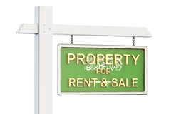 Property for sale and rent in Saudi Arabia concept. Real Estate. Sign Royalty Free Stock Photography