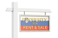 Property for sale and rent in Slovenia concept. Real Estate Sign Stock Photography