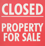 Property For Sale Sign Royalty Free Stock Photo