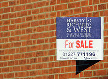 Property sale sign Stock Images