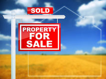 Property For Sale - Sold Royalty Free Stock Photos