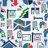 Property services market pattern Royalty Free Stock Images