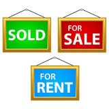 Property Signs Stock Photography