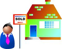 Property sold Stock Image