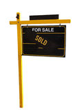 Property Sold Sign Stock Image