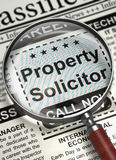 Property Solicitor Join Our Team. 3D. Stock Image
