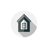 Property symbol, vector house constructed with bricks. Real esta Stock Images