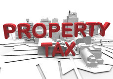Property tax concept Royalty Free Stock Image