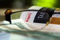 Property taxation Stock Image