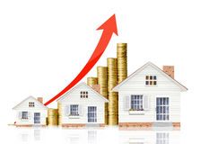 Property value. Houseing price go up, Property value stock image