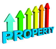 Property Value Increasing Shows On The Market And Building Stock Photos