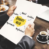 Property Value Market Diagram Concept. Business Person property Value Concept royalty free stock photo
