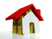 Property value, symbol of real estate Stock Images