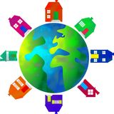 Property world. Real estate business around the globe