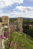 Properzio Towers In Spello - Umbria Stock Photography