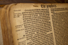 Prophecy manuscript Stock Photography