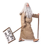 Prophet. With sign on white background Royalty Free Stock Image