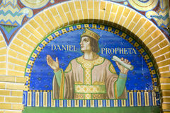 The prophet Daniel. Fresco of the prophet Daniel in church stock photo