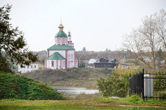Prophet Elijah`s Church on Ivan's Hill - Suzdal Cityscapes Royalty Free Stock Photos