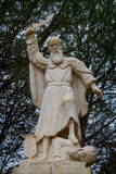 Prophet Elijah Statue in Muhraqa Monastery on Mount Carmel, Israel Royalty Free Stock Images