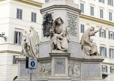 Prophet Isaiah by Revelli, base of the Column of the Immaculate Conception monument, Rome Stock Photos