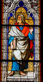 The prophet Jeremiah. Church window in the Dom of Cologne, Germany, depicting the prophet Jeremiah Royalty Free Stock Images